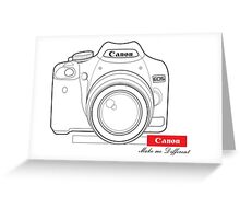 Canon Make Me Different Greeting Card
