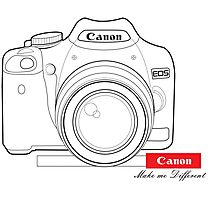Canon Make Me Different Photographic Print