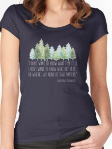 Into the Wild with Christopher McCandless Women's Fitted Scoop T-Shirt