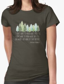 Into the Wild with Christopher McCandless Womens Fitted T-Shirt