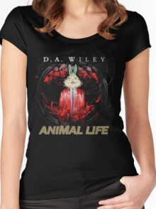 D.A. Wiley - Animal Life (Cover, artwork by Tsveta Komaticheva) Women's Fitted Scoop T-Shirt