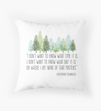 Into the Wild with Christopher McCandless Throw Pillow