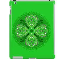 Happy leaf clover in celtic iPad Case/Skin