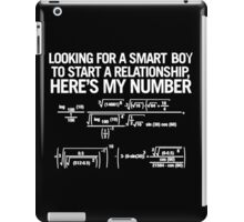 My phone number iPad Case/Skin