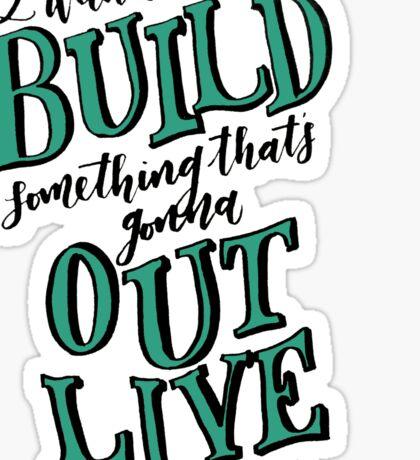 Build Something Sticker