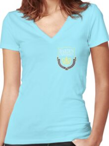 Barden University Crest Women's Fitted V-Neck T-Shirt