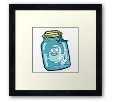 large bottle - RICK MORTY Framed Print