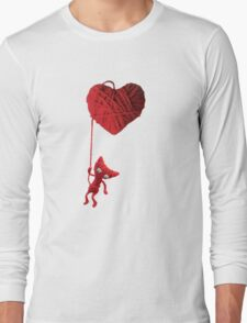 Unravel Yarny Heart Long Sleeve T-Shirt