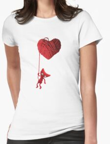 Unravel Yarny Heart Womens Fitted T-Shirt