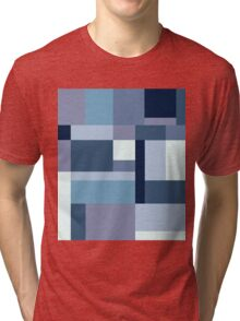 Abstract #387 Blue Harmony Tri-blend T-Shirt