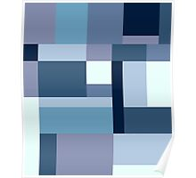 Abstract #387 Blue Harmony Poster