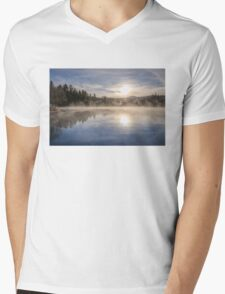 Cool November Morning Mens V-Neck T-Shirt