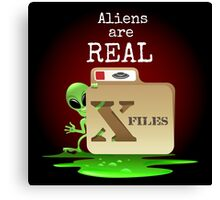 Aliens are Real Canvas Print