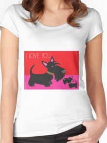 I Love You – Scottie Women's Fitted Scoop T-Shirt