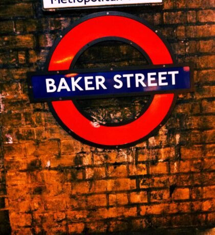 Baker Street London- Sherlock  Sticker
