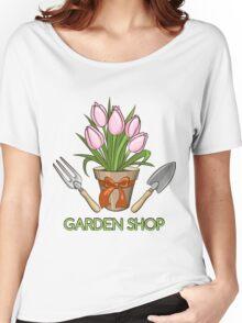 Garden Shop Emblem Women's Relaxed Fit T-Shirt
