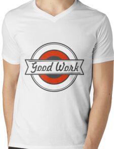 Motivate Badge  Mens V-Neck T-Shirt