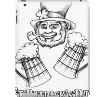 Leprechaiun and Beer iPad Case/Skin