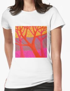 Three Red Trees Womens Fitted T-Shirt