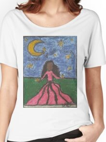 Girl Holding The Stars Women's Relaxed Fit T-Shirt