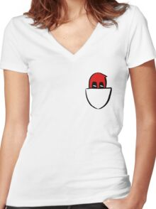 Peek - a - pool Women's Fitted V-Neck T-Shirt