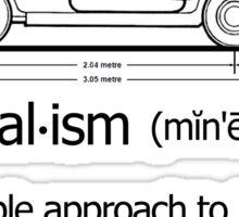 MINI-malism (minimalism) - Classic edition Sticker