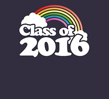 Class of 2016 retro rainbow Womens Fitted T-Shirt