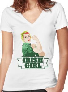 Irish Girl Women's Fitted V-Neck T-Shirt