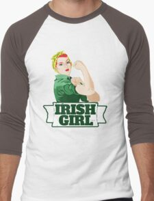 Irish Girl Men's Baseball ¾ T-Shirt