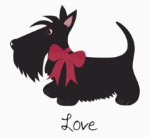 Love Scottie Dog Baby Tee