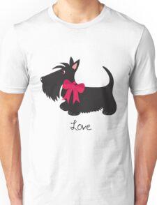 Love Scottie Dog Unisex T-Shirt