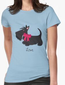 Love Scottie Dog Womens Fitted T-Shirt