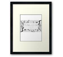 Yung Lean Sakura trees Framed Print