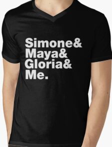 Feminist Greats List Mens V-Neck T-Shirt