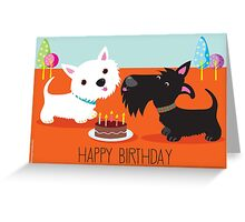 Happy Birthday from the Terriers Greeting Card