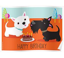 Happy Birthday from the Terriers Poster