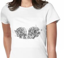 Butterfly Kisses Womens Fitted T-Shirt