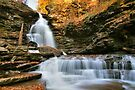 October Evening Below Ozone Falls by Gene Walls