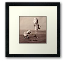 Simple Things - Man and Dog Framed Print
