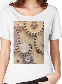 Macro Steampunk watch parts #2 Women's Relaxed Fit T-Shirt
