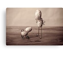 Simple Things - Man and Dog Canvas Print