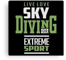 Sky Diving Extreme Sport Canvas Print