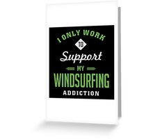 Windsurfing Extreme Sport T-shirt Greeting Card