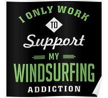 Windsurfing Extreme Sport T-shirt Poster
