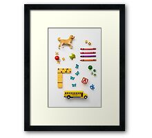 Kid's Stuff Framed Print