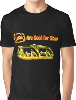 Logos are Good for Sheep Black Graphic T-Shirt