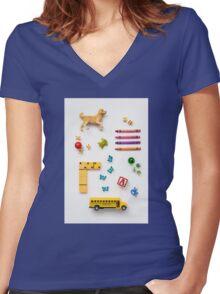 Kid's Stuff Women's Fitted V-Neck T-Shirt