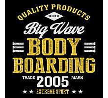 Bodyboarding Extreme Sport  Photographic Print