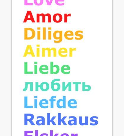 Love (languages) Sticker