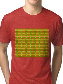 Kanaka Maoli Flag Pattern Tri-blend T-Shirt